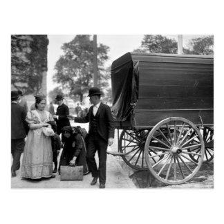 Immigrants at Battery Park, 1900 Postcard