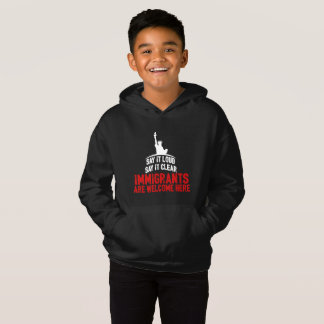 Immigrants Welcome Boy's Dark Hoodie