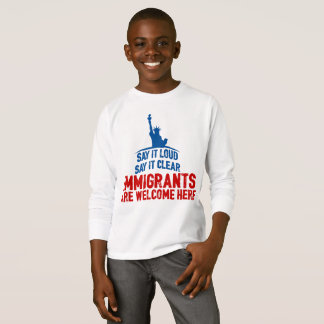 Immigrants Welcome Boy's Long Sleeve T-Shirt