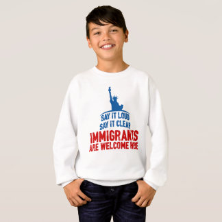 Immigrants Welcome Boy's Sweatshirt