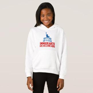 Immigrants Welcome Girl's Hoodie
