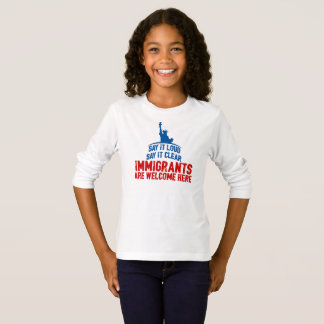 Immigrants Welcome Girl's Long Sleeve T-Shirt