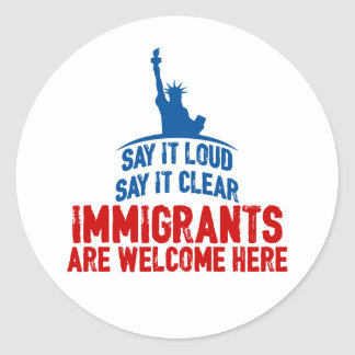 Immigrants Welcome Sticker