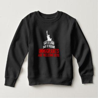 Immigrants Welcome Toddler Dark Sweatshirt