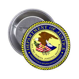 Immigration and Naturalization Service 2 Inch Round Button