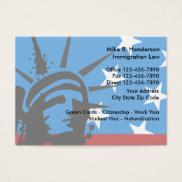 Immigration business cards templates zazzle immigration attorney business card reheart Choice Image
