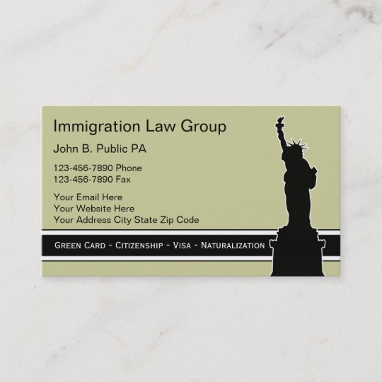 Immigration Attorney Business Cards Zazzle
