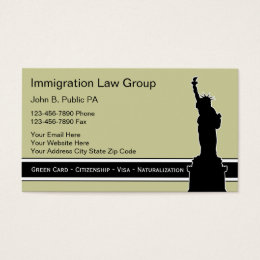 Immigration business cards templates zazzle immigration attorney business cards reheart Choice Image