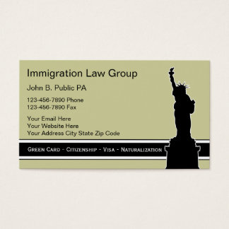 Immigration Attorney Business Cards