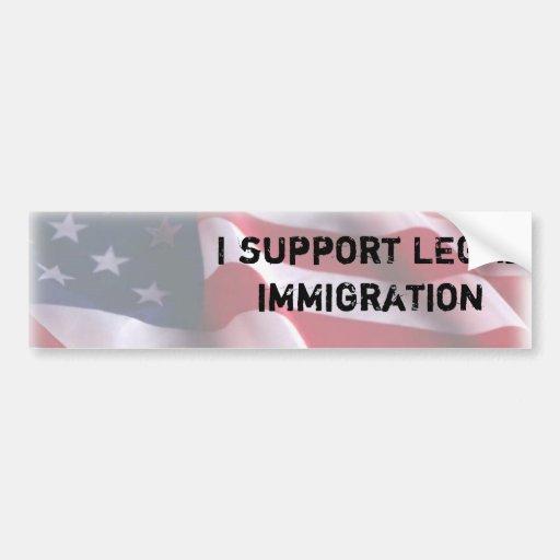 Immigration Car Bumper Sticker