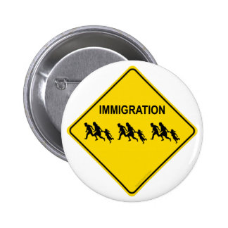 Immigration Crossing 2 Inch Round Button
