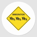 Immigration Crossing Sticker
