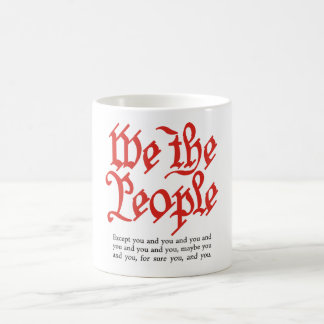 Immigration cup 5 classic white coffee mug