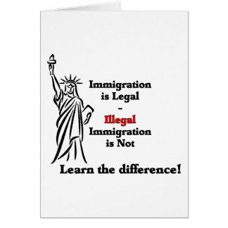 Immigration Is Legal Card