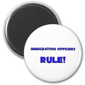 Immigration Officers Rule Fridge Magnet