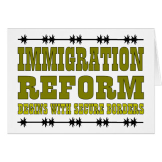 Immigration Reform Greeting Card