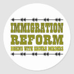 Immigration Reform Round Sticker