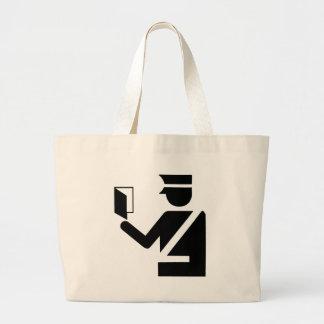 Immigration Symbol Large Tote Bag