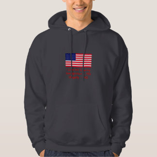 Immigration -- YES Illegally -- NO USA Flag Hoodie