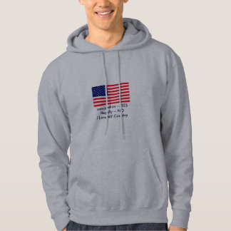 Immigration -- YES Illegally -- NO USA Flag Hoody