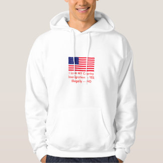 Immigration -- YES Illegally -- NO USA Flag Sweatshirt
