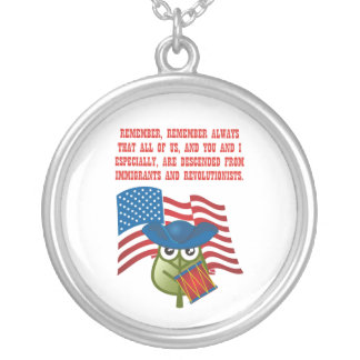 Immigrations & Revolutionists Round Pendant Necklace