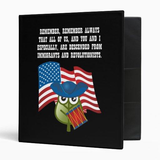 Immigrations & Revolutionists Vinyl Binders
