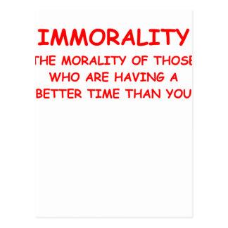 IMMORALITY POSTCARD