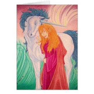 Immortal Companionship (unicorn & elf) Card