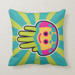 Hand shaped Immortal Jellyfish Sting Throw Pillow