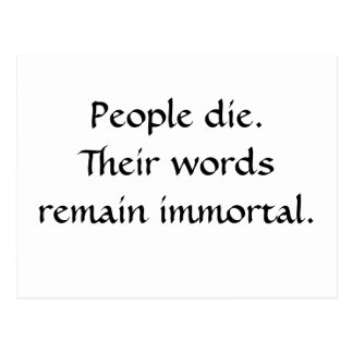 Immortal Words Postcard