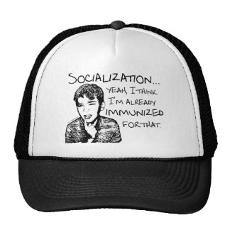 Immunized for Socialization Mesh Hats