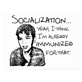 Immunized for Socialization Postcard