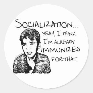 Immunized for Socialization Stickers