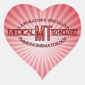 IMMUNOHEMATOLOGY SPECIALIST MT MEDICAL TECHNOLOGIS HEART STICKER
