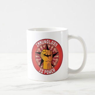 Immunology Is Power Coffee Mugs