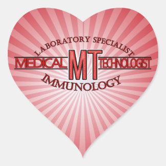 IMMUNOLOGY SPECIALIST MT MEDICAL TECHNOLOGIST HEART STICKER