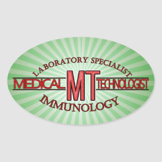 IMMUNOLOGY SPECIALIST MT MEDICAL TECHNOLOGIST OVAL STICKER