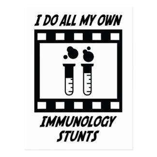 Immunology Stunts Postcard