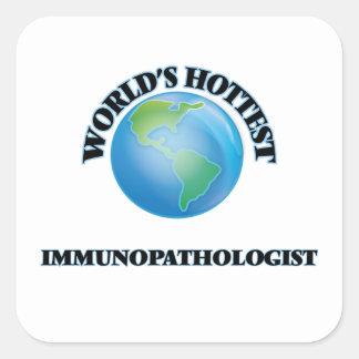 Immunopathologist más caliente del mundo pegatina cuadrada