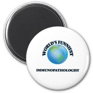 Immunopathologist más divertido del mundo imán redondo 5 cm