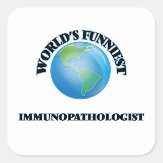 Immunopathologist más divertido del mundo pegatina cuadrada