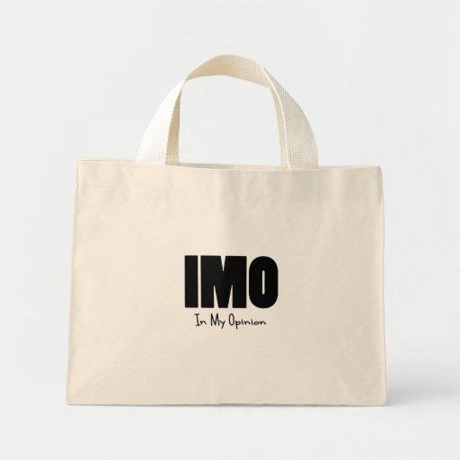 IMO black Tote Bags