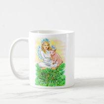 Imogene Christmas Angel Piglet JL Biel Coffee Mug