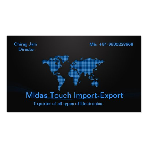 Imort-Export/ Global Double-Sided Standard Business Cards (Pack Of 100)
