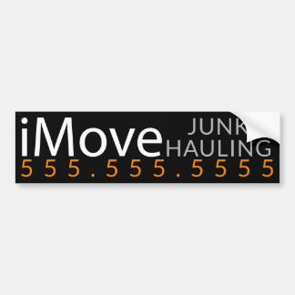 iMove CLUTTER Hauling Removal Business Promotion Bumper Sticker