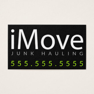 iMove. Junk Hauling or Moving Business Card