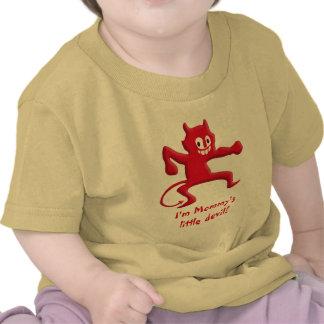 Imp de cuernos rojo del diablo con la cola acentua camiseta