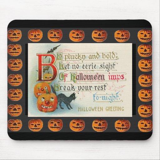 Imp de Halloween del vintage Tapete De Ratones