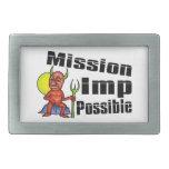 Imp de la misión posible hebillas de cinturón rectangulares